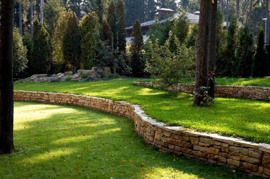 Подпорные стенки и террасы в ландшафтном дизайне